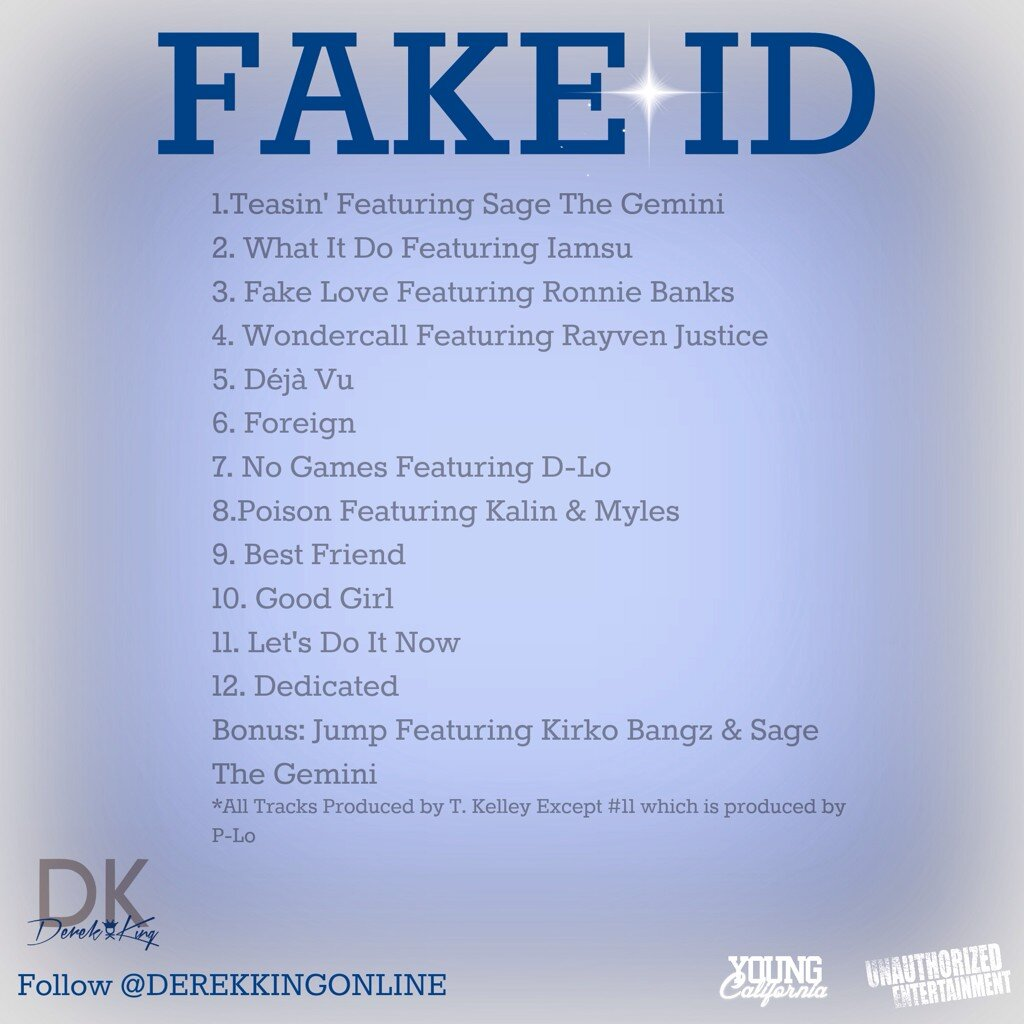 Mixtape: Derek King – 'Fake ID' (Hosted by DJ Amen and DJ